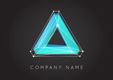 Geometric Shapes Unusual and Abstract  Vector Logo. Polygonal Co Royalty Free Stock Image