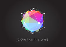 Geometric Shapes Unusual and Abstract  Vector Logo. Polygonal Co Stock Photo