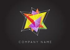 Geometric Shapes Unusual and Abstract Vector Logo. Polygonal Co stock illustration