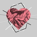Valentines Day backgrounds templates for greeting cards, banners, illustration with heart. Geometric shapes Valentines Day  backgrounds templates for greeting Royalty Free Stock Image