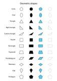 Geometric shapes vector Stock Photos