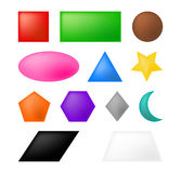 Geometric shapes vector symbol icon design. Stock Images