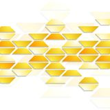 Geometric shapes on white background. Tech design Stock Photography