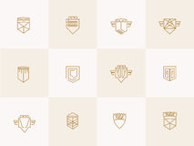 Geometric shield trendy hipster Icons Stock Image