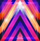 Geometric shining pattern with triangles Stock Photos