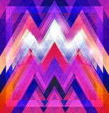 Geometric shining pattern with triangles Royalty Free Stock Images