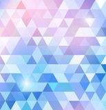 Geometric shining pattern with triangles Royalty Free Stock Photography