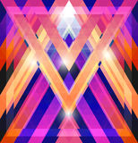 Geometric shining pattern with triangles Royalty Free Stock Photo
