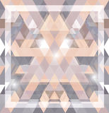 Geometric shining pattern with triangles Stock Images