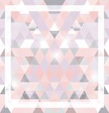 Geometric shining pattern with triangles Stock Photography