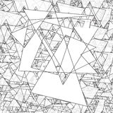 Geometric simple black and white minimalistic pattern, triangles. Can be used as wallpaper, background or texture. Stock Photos