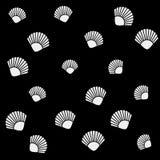 Geometric simple monochrome minimalistic vector holiday pattern, shell Stock Photo
