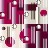 Bauhaus pattern5. Geometric simple seamless pattern.Constructivism art style.Russian constructivism. Vector colorful texture . Bauhaus abstract textile stock illustration