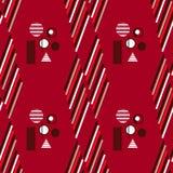 Bauhaus pattern5. Geometric simple seamless pattern.Constructivism art style.Russian constructivism. Vector colorful texture . Bauhaus abstract textile royalty free illustration