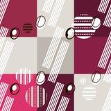 Bauhaus pattern13. Geometric simple seamless pattern.Constructivism art style.Russian constructivism. Vector colorful texture . Bauhaus abstract textile stock illustration