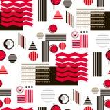Bauhaus pattern1. Geometric simple seamless pattern.Constructivism art style.Russian constructivism. Vector colorful texture . Bauhaus abstract textile vector illustration
