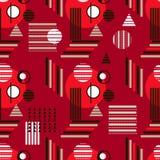 Bauhaus pattern2. Geometric simple seamless pattern.Constructivism art style.Russian constructivism. Vector colorful texture . Bauhaus abstract textile royalty free illustration