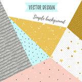 Geometric simple textured universal background. Vector illustration. Stock Images
