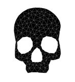 Geometric skull Stock Photos