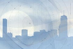 Geometric Skyline Background Stock Photography