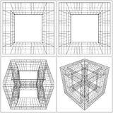 Geometric Sliced Cube Box Vector Royalty Free Stock Images