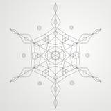 Geometric Snowflake Royalty Free Stock Photography