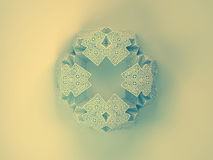 Geometric snowflake background. Christmas 3D geometric symmetry ornamental snowflake Stock Photos