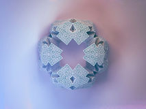 Geometric snowflake background Stock Photos