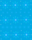 Geometric Snowflake on Blue Royalty Free Stock Photo