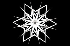 Geometric snowflake Royalty Free Stock Photo
