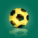 Geometric soccer ball. On green background illustration Stock Photo