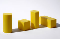 Geometric solid. Some geometric solid,cube,cylinder,parallelepiped Stock Photography