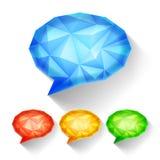 Geometric Speech Bubbles Royalty Free Stock Photos