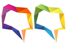 Geometric speech bubbles, vector set Stock Photo
