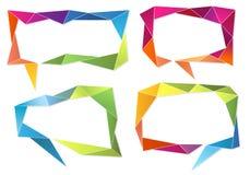 Geometric speech bubbles, vector set Stock Photos
