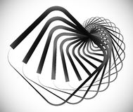 Geometric spiral element made of squares. Royalty free vector illustration Royalty Free Stock Image
