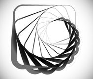 Geometric spiral element made of squares. Royalty free vector illustration Royalty Free Stock Photography