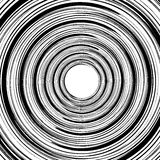 Geometric spiral pattern with concentric circles, rings. Abstrac. T monochrome illustration. - Royalty free vector illustration royalty free illustration