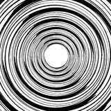 Geometric spiral pattern with concentric circles, rings. Abstrac. T monochrome illustration. - Royalty free vector illustration vector illustration