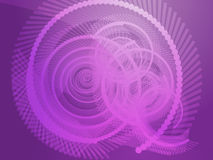 Geometric spirals Royalty Free Stock Image