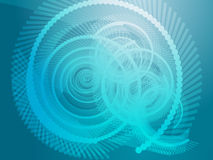 Geometric spirals Royalty Free Stock Photos