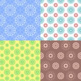 Geometric spirograph seamless patterns. Delicate design backgrounds. Seamless texture with floral elements. ackground Stock Images