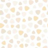 Geometric spots vector seamless pattern: creamy, vanilla, carame Stock Images