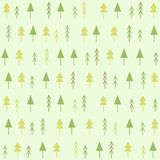 Geometric spruces seamless pattern. Hand drawn illustration Royalty Free Stock Photo