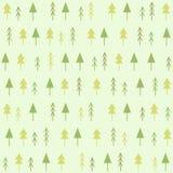 Geometric spruces seamless pattern. Hand drawn illustration stock illustration