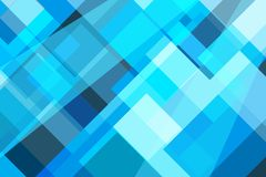 Geometric square blue bright and deep abstract background. Geometric square blue bright and deep abstract background technology design Royalty Free Stock Photography