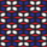 Geometric square box blue black and red background Stock Image