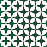 Geometric square box  green plus on whte background Stock Photos