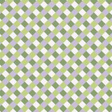 Geometric square gingham pattern in greens and purple. stock image