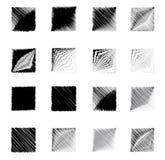 Geometric Square shapes figure sketch set. Square shapes figure sketch set Royalty Free Stock Photography